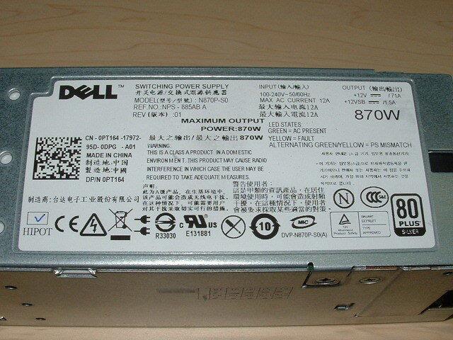 Lot of 2 Dell PowerEdge R710 T610 Server 870W Hot Swap Power Supply PSU YFG1C