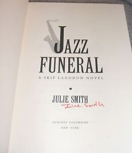 1993-Signed-First-edition-of-Jazz-Funeral-by-Julie-Smith-Collectible-Mystery