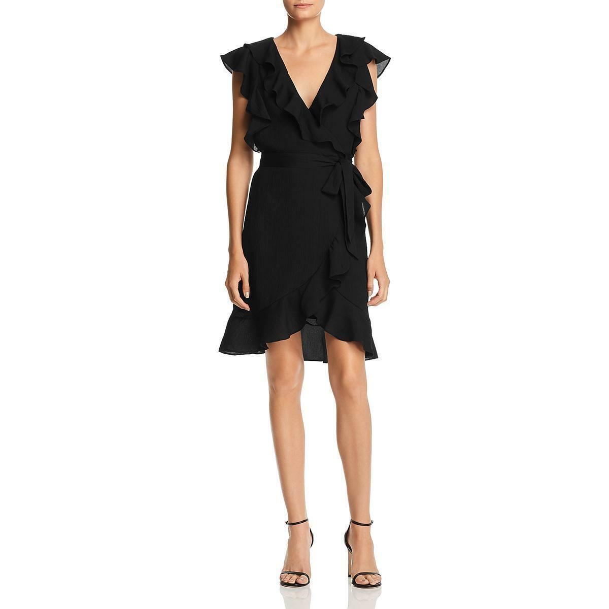 Ella Moss Womens Adara Black Floral Print Bell Sleeves Casual Dress XS BHFO 0220