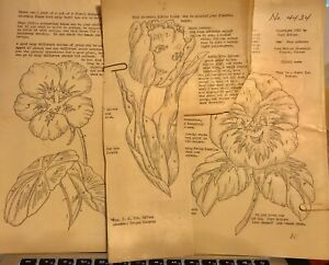 3-Vera-Waters-Wax-Stencil-Sets-Happy-Flower-Faces-Vintage-Unused