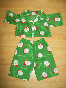 "RED FLANNEL KITTY CAT CHRISTMAS PAJAMAS PJS for 16-17/"" CPK Cabbage Patch Kids"