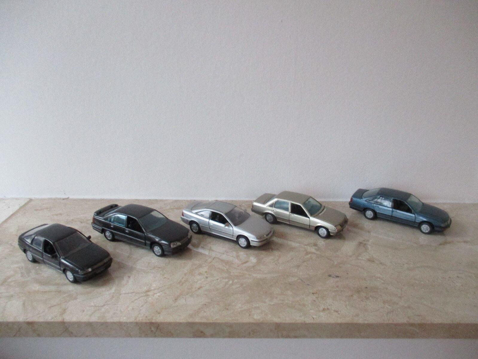 5 x voiture miniature GAMA OPEL échelle 1 43 sans neuf dans sa boîte