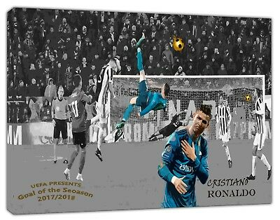 Cristiano Ronaldo Best goal Rovesciata Picture Print On Framed Canvas Wall art