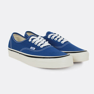 e6ae83c7455 Vans Unisex Authentic 44 DX Anaheim Factory OG Blue White Skate Shoe  VN0A38ENQA5