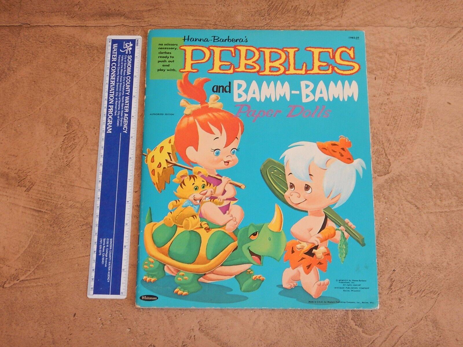 1964 HANNA BARBERA PEBBLES AND BAMM-BAMM PAPER DOLLS BOOK  HIGH GRADE UNUSED