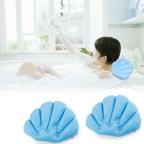 Aufblasbares Badekissen Badewanne Spa Kopfstütze Nackenstütze Relax