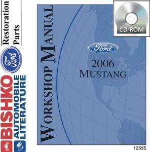 2006 Ford Mustang Shop Service Repair Manual CD Engine Drivetrain Electrical OEM