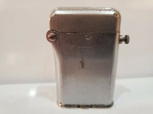 VINTAGE-WORKING-SWISS-MADE-THORENS-LIGHTER-DOUBLE-CLAW-ART-DECO-SILVER-TONE