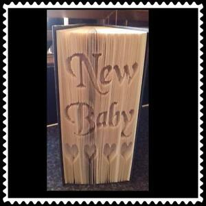 Folded Book Art Folding PATTERN ONLY #1185 New Baby
