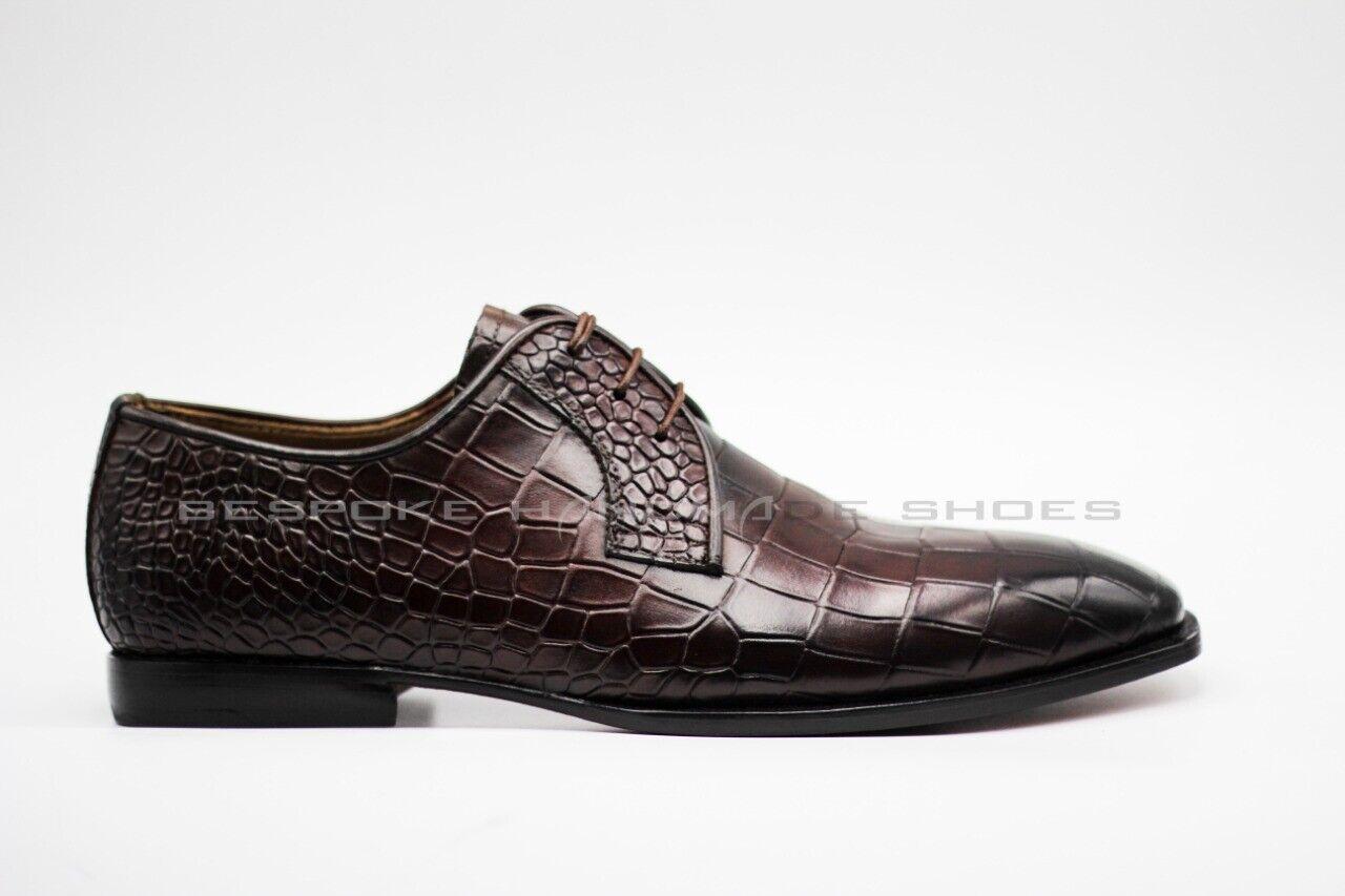 Pelle in pelle di coccodrillo Rivestimento di scarpe  Formali per uomo  edizione limitata a caldo