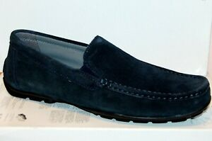 Aislar Melodrama difícil de complacer  Geox hombre Zapatos De Gamuza Mocasines Azul Marino Talla US12.5 EU46 | eBay