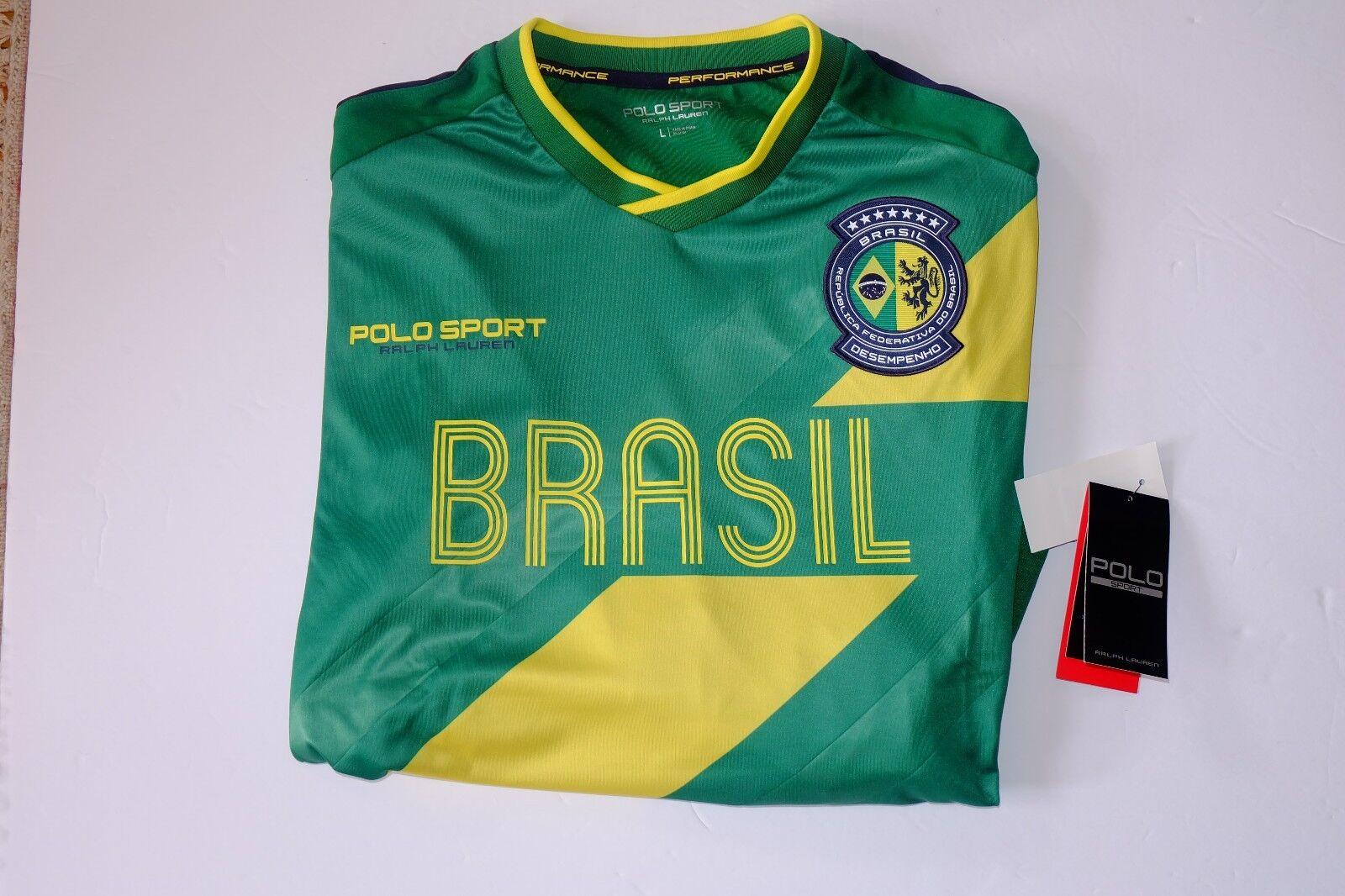 NWT AUTHENTIC Ralph Lauren Polo Sport Brazil Long-Sleeved Jersey T-Shirt