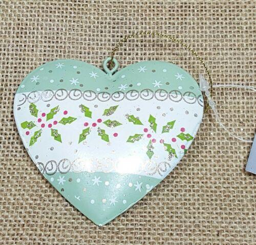 Gisela Graham Hanging Tin Heart Christmas Tree Decoration London Scene