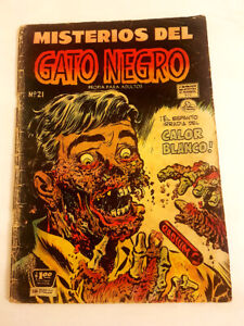 MISTERIOS-DEL-GATO-NEGRO-21-La-Prensa-Mexican-1954-Horror-BLACK-CAT-50-Pre-Code
