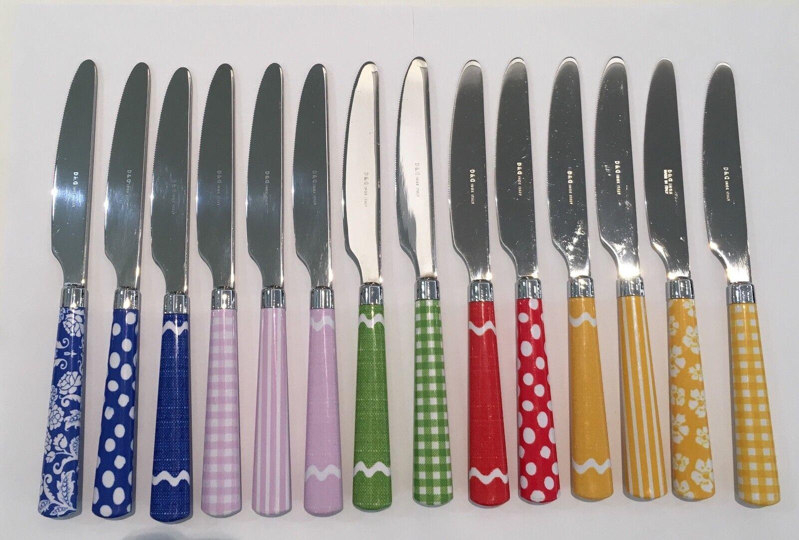 D & D - Domus & Design - 14 couteaux table couleurs assorti - REVENDEUR