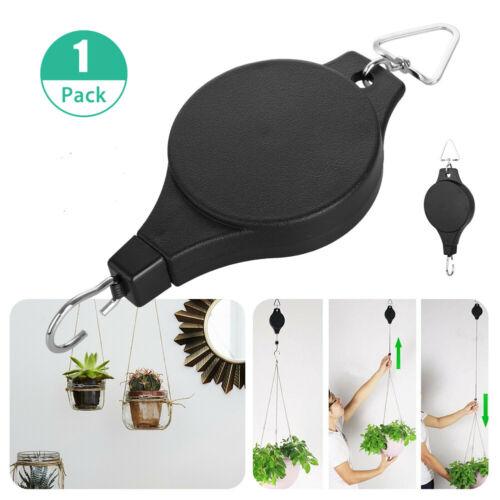 Plant Pulley Retractable Hanger Hanging Planter Flower Basket Hook Pot Hooks