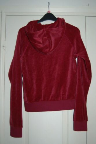 Oasis Maroon Sweat 10 Style Shirt velvet Top New Hoodie Velour wq5xE77fS
