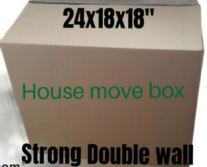 """1 x LARGE VERY STRONG TALL REMOVAL CARDBOARD MOVING BOXES - 24""""X18X18"""""""