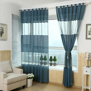Dettagli su 1Pc Voile Tenda Single Panel Voile Drapes per camera da letto,  soggiorno,