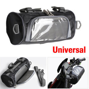 Moped-Scooter-Handlebar-Bag-Fork-Storage-Shoulder-Pack-w-Phone-Case-Waterproof
