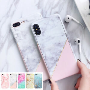 For-iPhone-XS-Max-XR-8-7-6S-Plus-5S-360-Marble-Shockproof-hybrid-Thin-Case-Cover