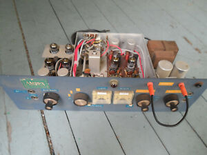 Ampex ? Stereo Tube Mic / Line Preamp Rare Vintage