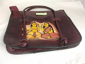 Genuine-Leather-Ladies-Shopping-Bag-Handpainted-Photochitra-Design-32x37x9-5cm
