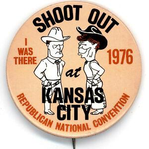 4067 1976 RNC Kansas City Ronald Reagan Convention Button
