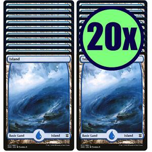 20x ISLAND 271 Full Art Basic Land NM/LP MTG Magic the Gathering Zendikar Rising