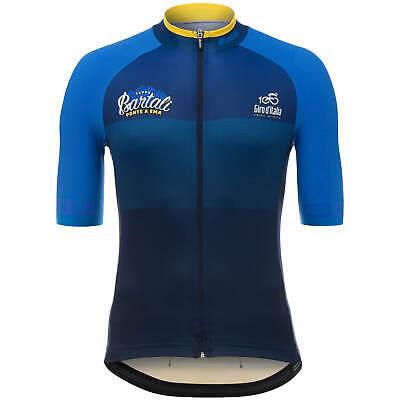 Size M 2017 Giro d/'Italia Stage 11 Bartali Short Sleeve Cycling Jersey Santini