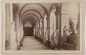 Genoa Cimitero Italia Foto Alfredo Noack PL17c1n46 Armadio Vintage Albumina