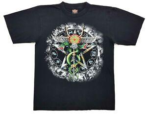 Vintage-Ophiuchus-Serpentarius-Zodiac-Tee-Black-Size-L-Single-Stitch-T-Shirt