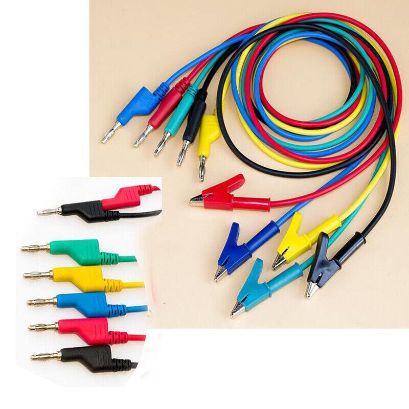 Pen Banana Plug Crocodile Clamp Alligator Clip Cable Probes Battery Test