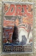 D.R.I. -  FULL SPEED AHEAD - CASSETTE STILL SEALED - DIRTY ROTTEN IMBECILES DRI