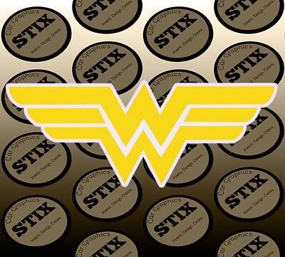 2 WONDER WOMAN Sticker Decal Die Cut Logo