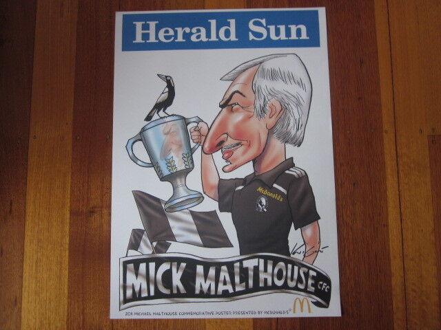 MARK KNIGHT COLLINGWOOD MICK MALTHOUSE / McDONALDS COMMEMORATIVE 2011 AFL POSTER