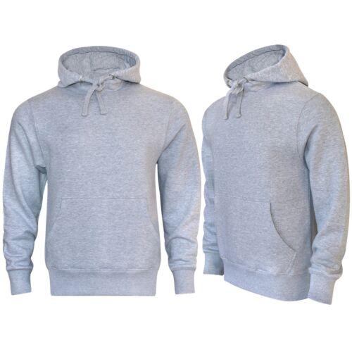 16sixty Men/'s Plain Pullover Hooded Sweatshirt Grey Fleece American Hoodie 1660