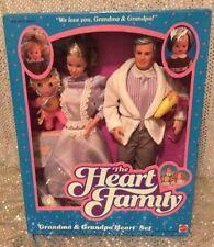 THE HEART FAMILY GRANDMA & GRANDPA BARBIE DOLL SET VINTAGE 1986 MATTEL 3132 NRFB
