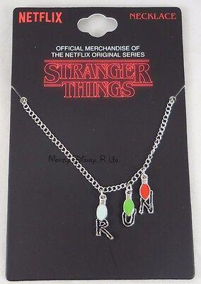 New Netflix Original Series Stranger Things Run String Lights Charm Necklace