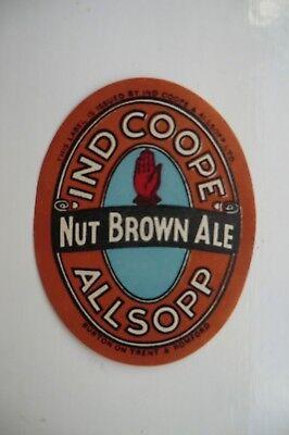 MINT IND COOPE /& ALLSOPP BURTON /& ROMFORD NUT BROWN ALE BREWERY BOTTLE LABEL