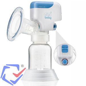 Einzelmilchpumpe-Elektrische-Milchpumpe-mit-Babyflasche-Akku-und-Netzbetrieb