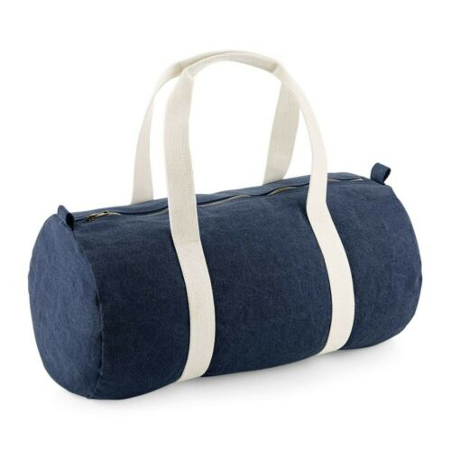 Denim Barrel Bag Holiday Holdall Sport Grab Bag Gym Sack Shoulder Bag Duffle