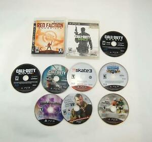 Lot-of-10-PS3-Playstation-3-Call-of-Duty-Grand-Theft-Auto-Sports-Video-Games