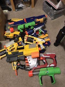 Image is loading Nerf-gun-lot-with-guns-darts-long-strike-