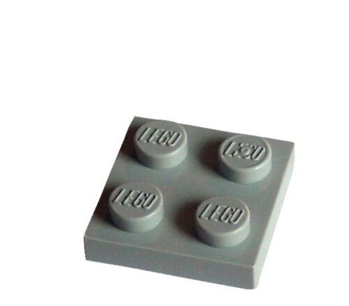 Lego 50 Pieces Plate 2x2 Light Bluish Grey 3022 New Panel Plates City Basics