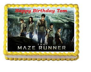 Image Is Loading The Maze Runner Birthday Party Icing Edible Cake