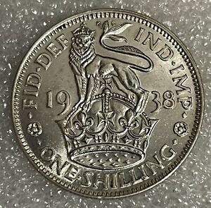 Stunning BU Grade - 1938 English Shilling  - George VI  #179