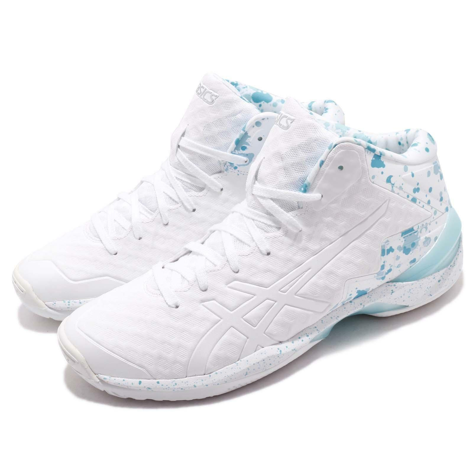 Asics Gel-Burst 21 GE Hi blanco azul Men Basketball zapatos zapatillas TBF30G-0101