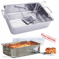 Lasagna Roaster Pan Stainless Steel Baking Serving Spatula Cover Cookware Set