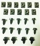 1967 - 1968 Firebird Hood Latch, Brace, and Release Mechanism Bolts Set